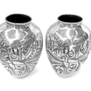 .Old Unique Vase Hand Engraved Delicately, One Pai